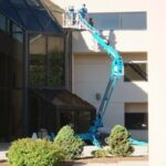 Lift for high window washing in